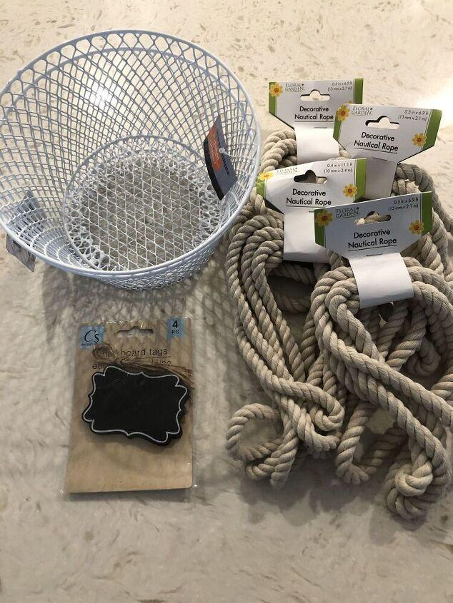 diy dollar tree rope basket
