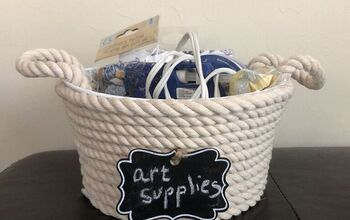 DIY Dollar Tree Rope Basket