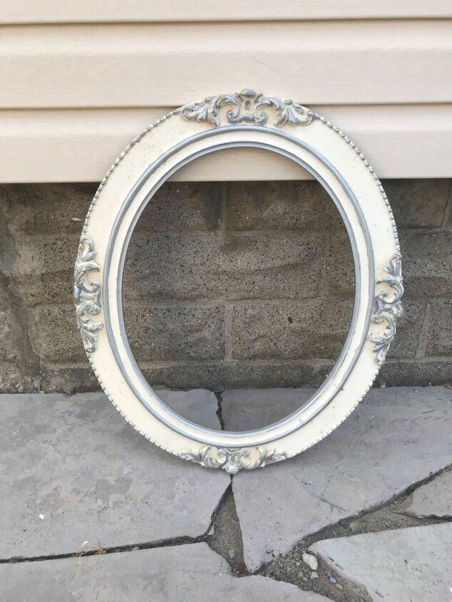 farmhouse makeover on a broken mirror