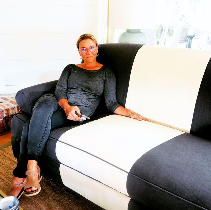 how to cut and pin a sofa slipcover