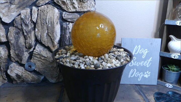 glass globe fountain
