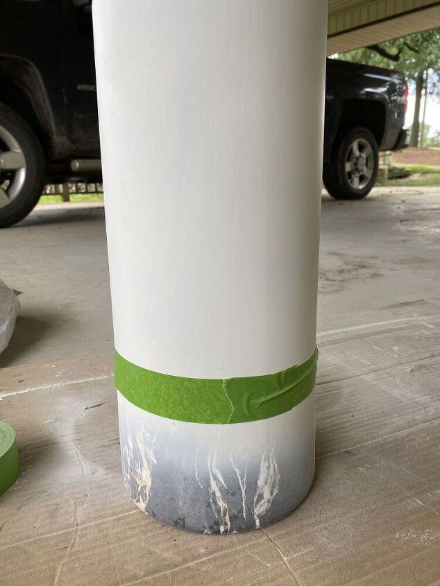 diy spray painted vases