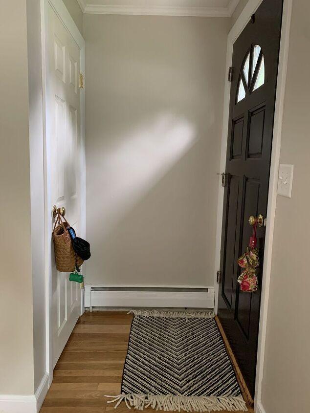 beadboard entryway wall