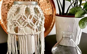 Macrame Jar Cover | Beautiful BOHO DECOR