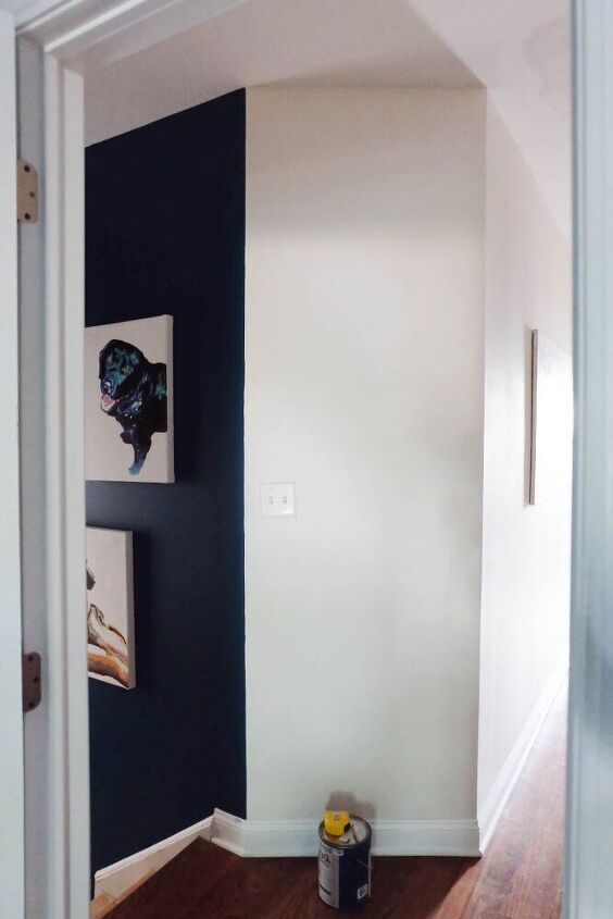 easy diy how to paint a half round shape on a wall