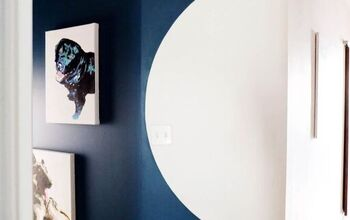 Easy DIY How To:  Paint a Half Round Shape on a Wall