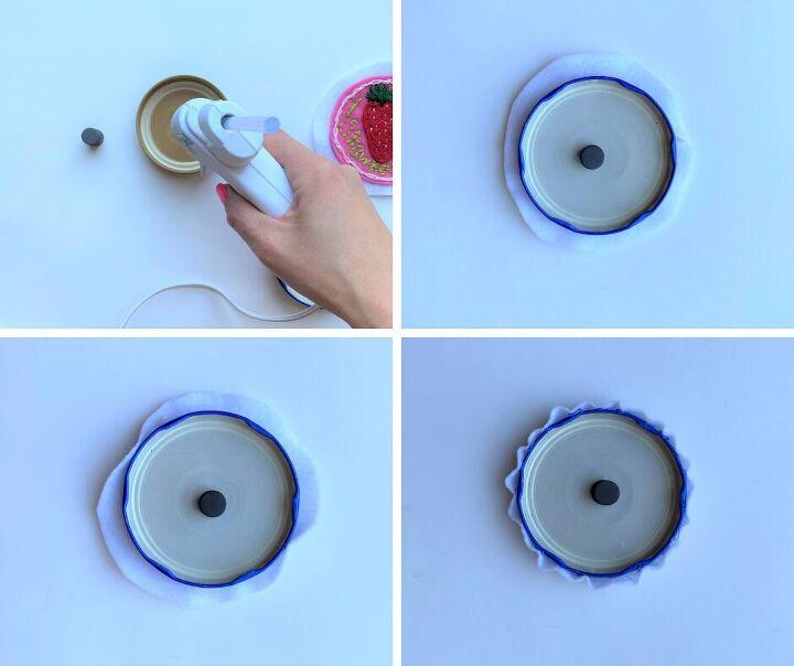 felt bottle cap magnets