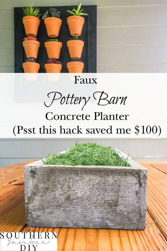 concrete planter box diy