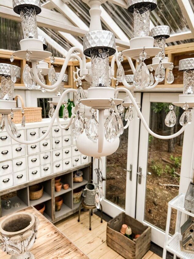 how to re purpose a chandelier