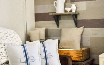 How to Easily (and Cheaply!) Make Monogrammed Grain Sack Pillows
