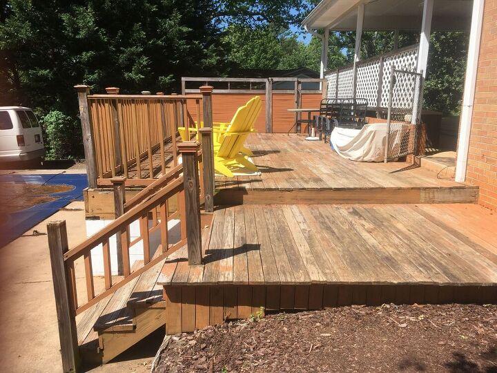 modern wood and metal deck renovation