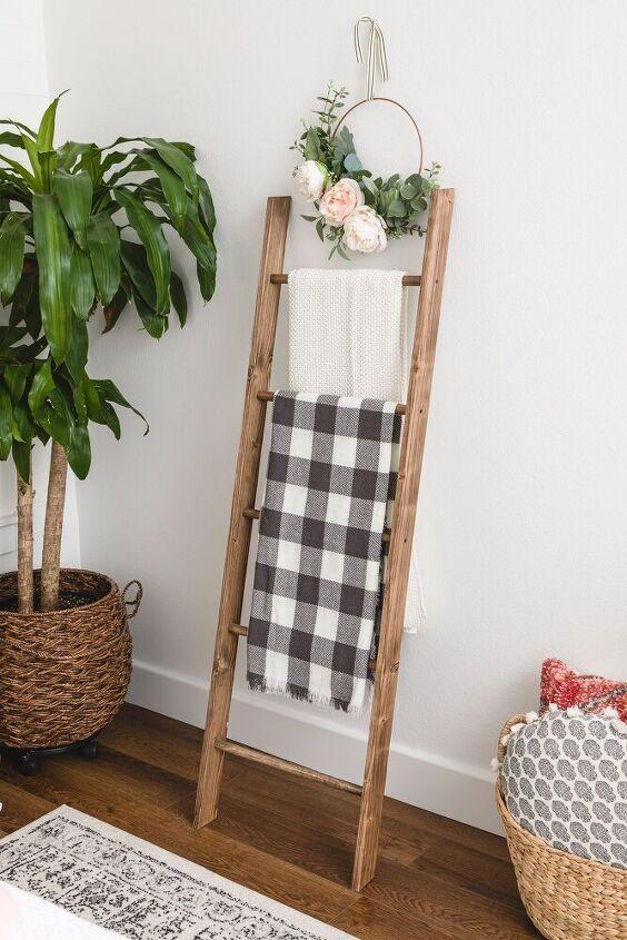 diy blanket ladder how to build a wooden blanket ladder