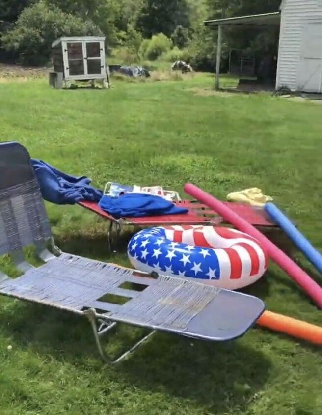 pool ladder organizer
