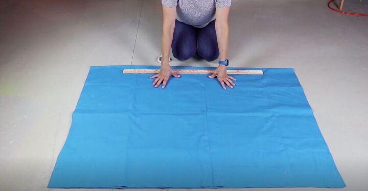 Fold Fabric in Half