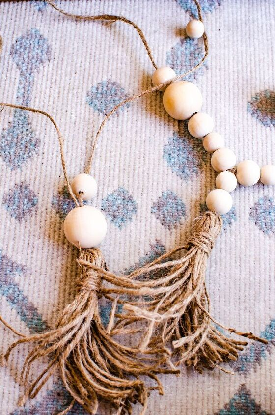 diy beaded tassel curtain tie back