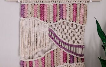 Easy Cheerful Macrame Wall Hanging (with Naturally Dyed Rope)
