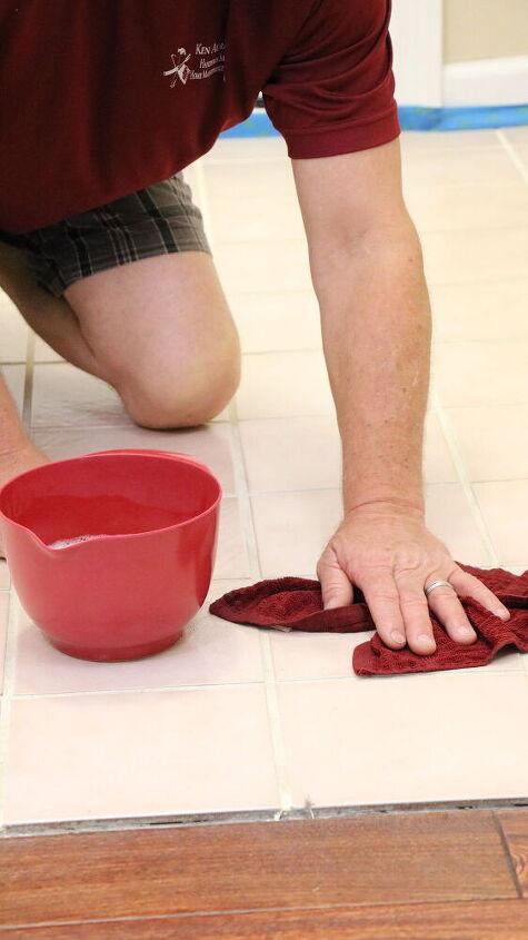 diy painted stencil tile floor