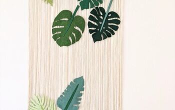 Tropical Felt Leaves Wall Hanging DIY