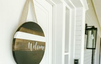 DIY Front Door Welcome Sign