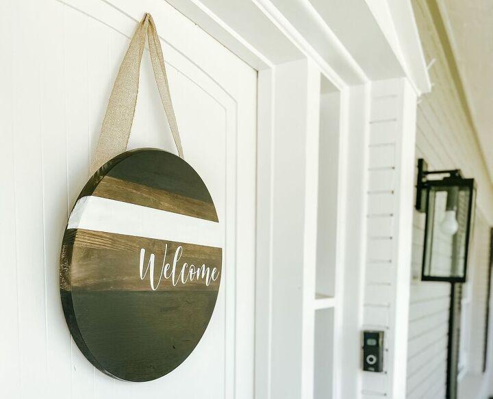 diy front door welcome sign
