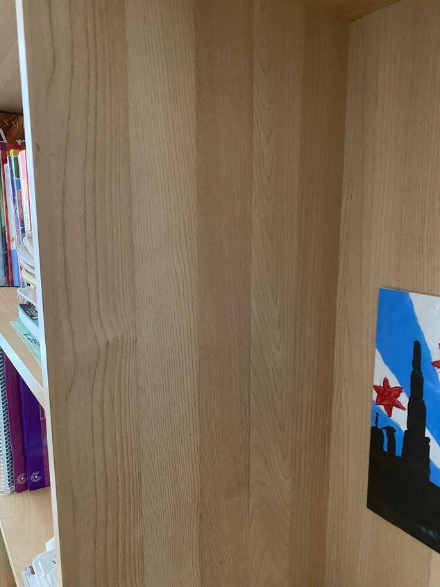 q what is the best way to paint a laminate particle board bookshelf