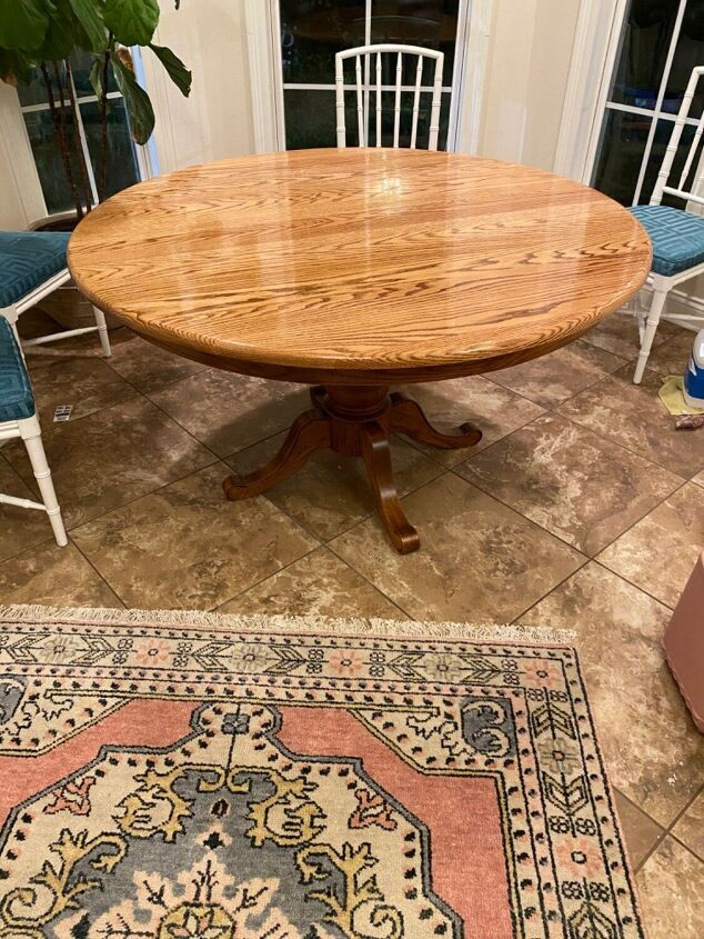 vintage dining table top redo