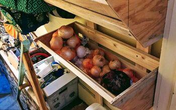 Taters & Onions Storage Wall Bins