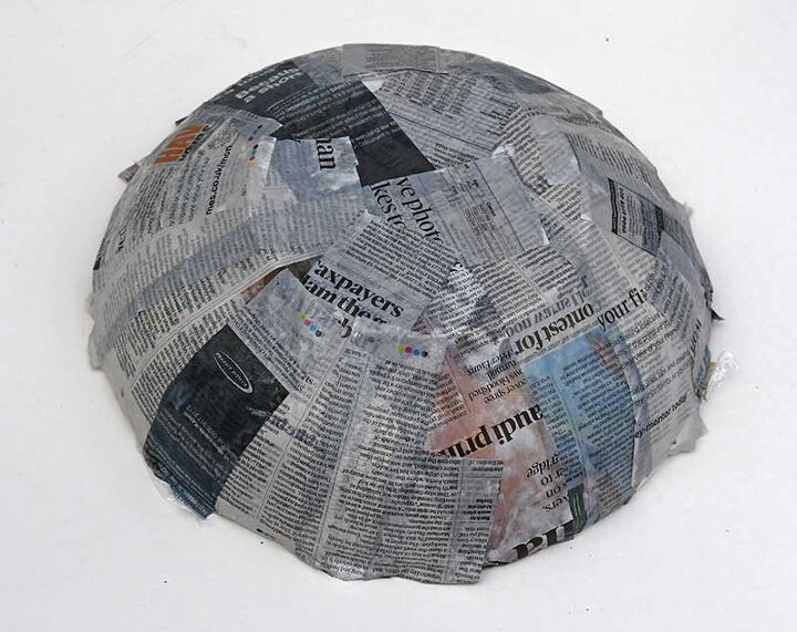 how to make a fun decoupage paper mache bowl