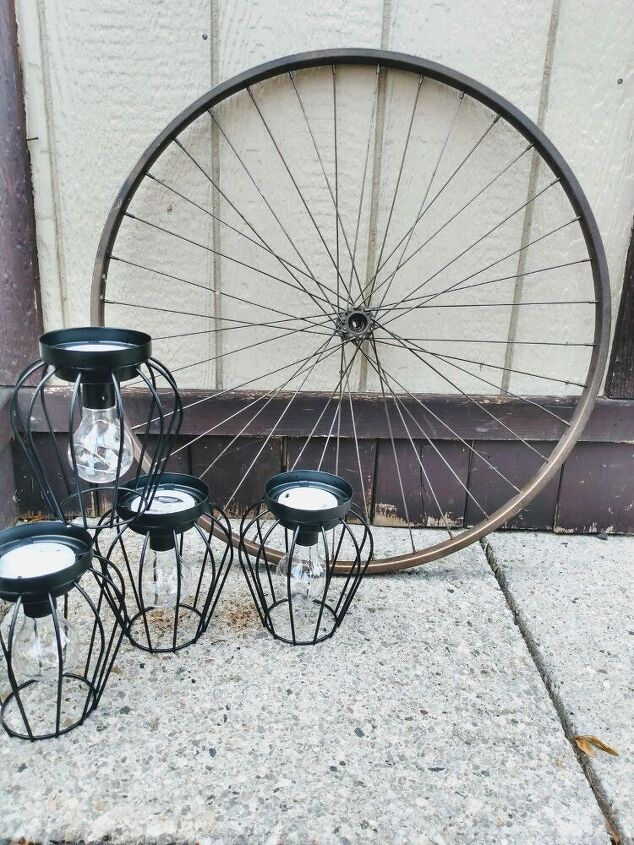 bicycle rim outdoor lighting