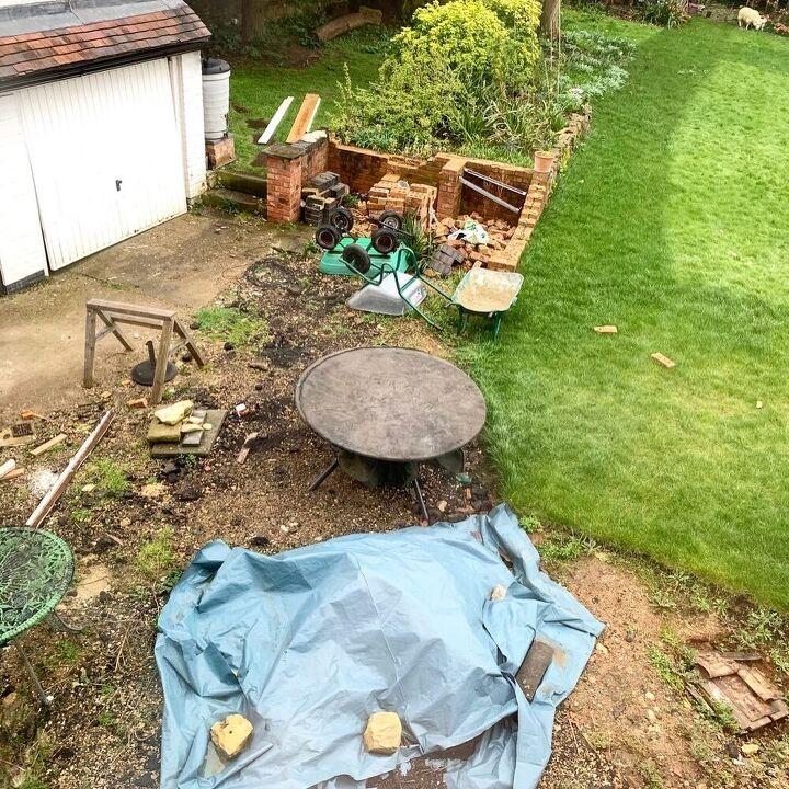 backyard makeover how to build a brick patio circle