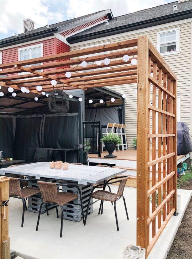 backyard lattice