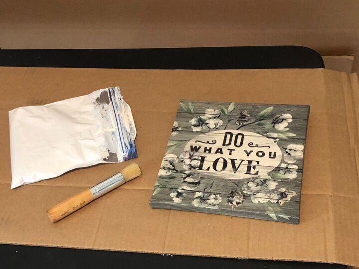 diy simple art using a dollar store canvas