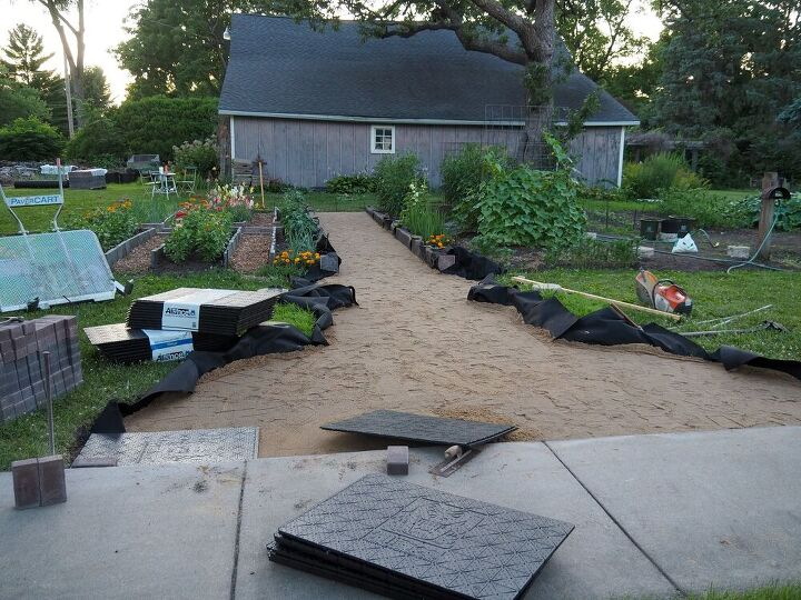 diy installation of paver base panel for paver part one