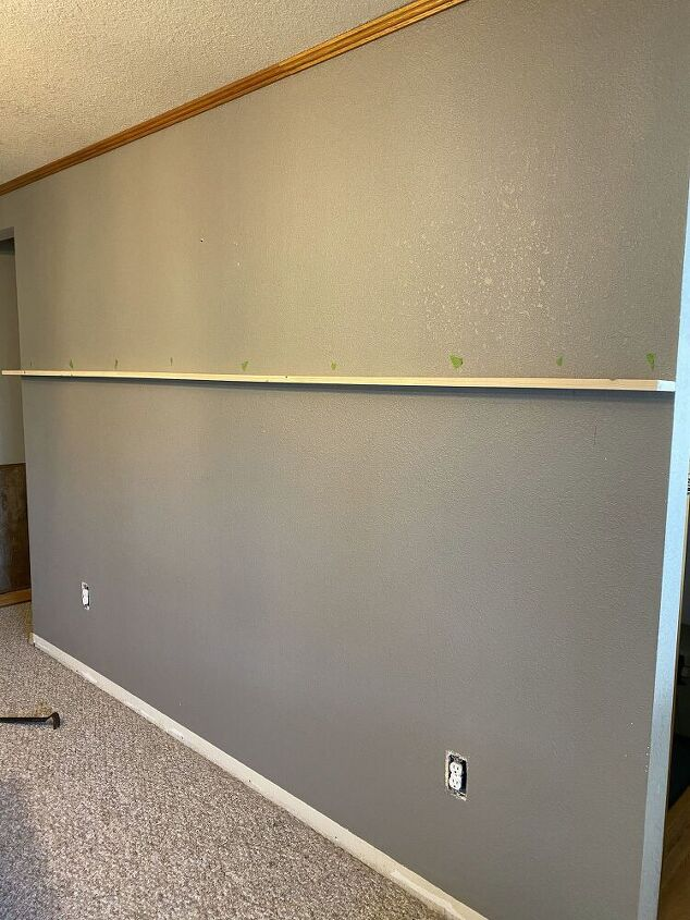 vertical shiplap accent wall