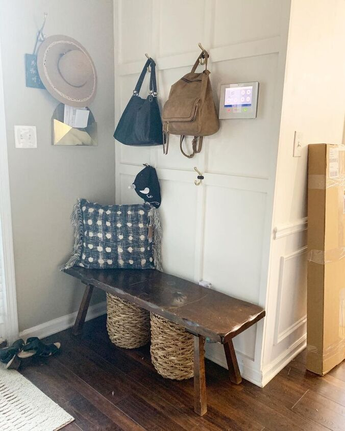 simple andthrifted diy wooden bench makeover with dipped legs