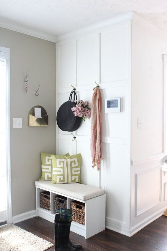 easy board and batten tutorial for a small entryway