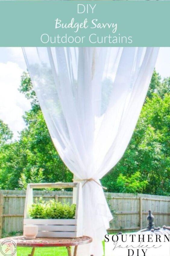 diy budget savvy outdoor curtains