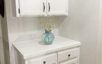 Updating a Builder Grade Linen Cabinet