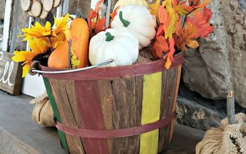 Painted Fall Harvest Basket DIY