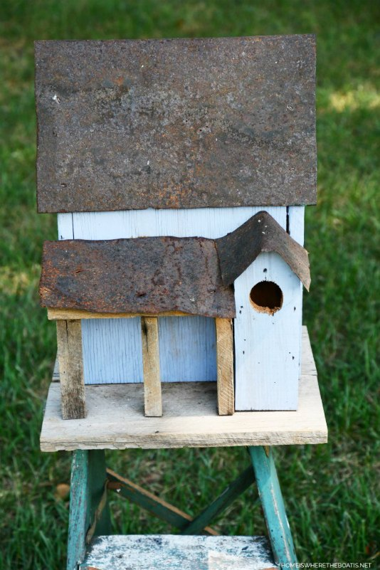 add curb appeal some vintage charm to a birdhouse
