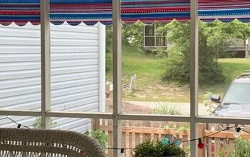 Easy Peasy  Porch Curtains.