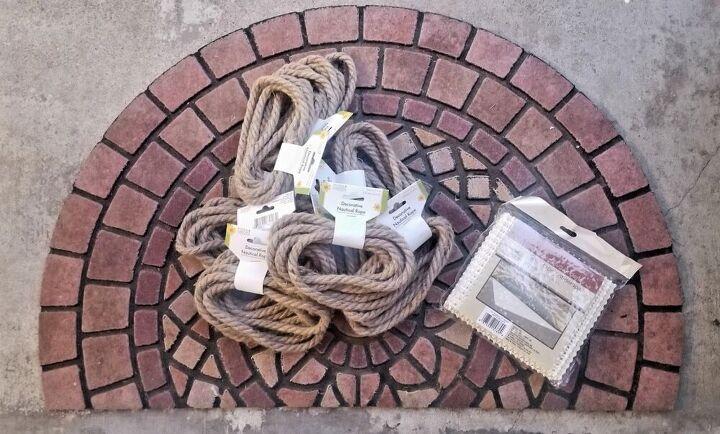 nautical rope rainbow rug