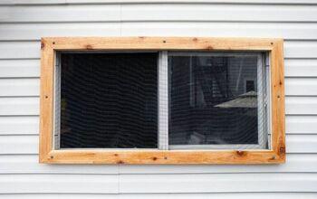 DIY Easy Cedar Garage Window Frames