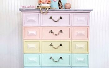 Pastel Rainbow Furniture Makeover