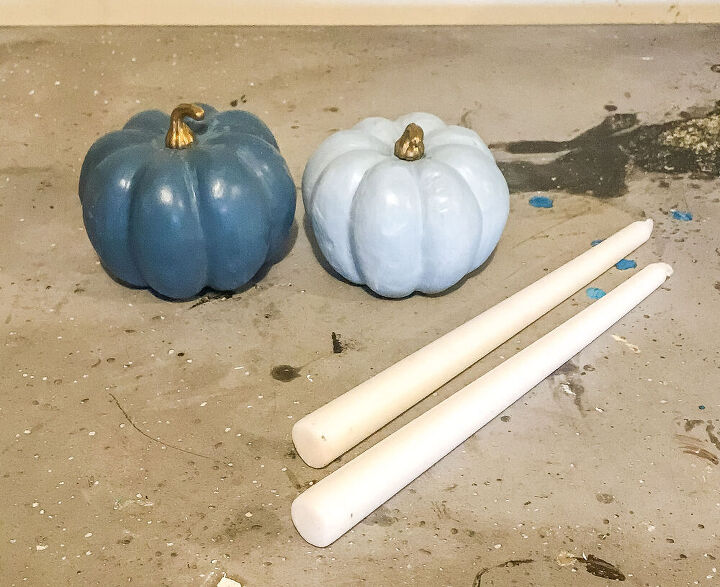 pumpkin candle stick holders