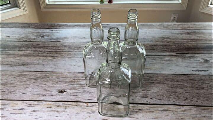 diy pumpkin decor using a glass bottle