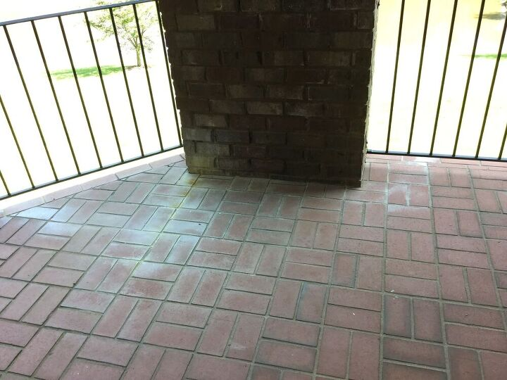 q how can i restore my accidentally bleached brick to its original color