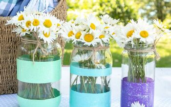 DIY Painted Mason Jar Vases