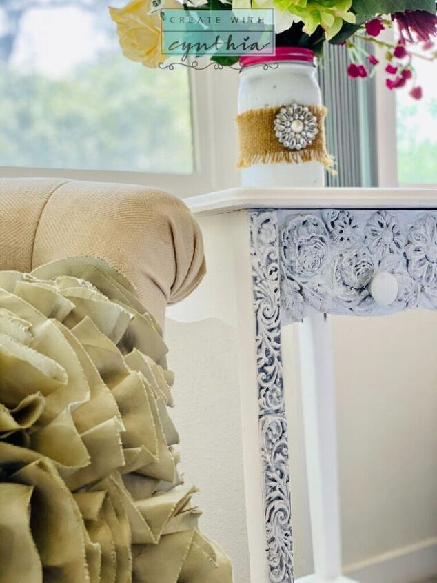 furniture makeover with decor moulds and clay