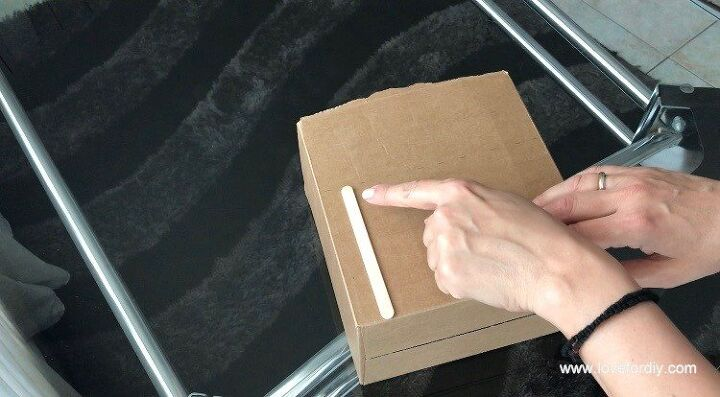 how to make a storage box from a cardboard box no sew